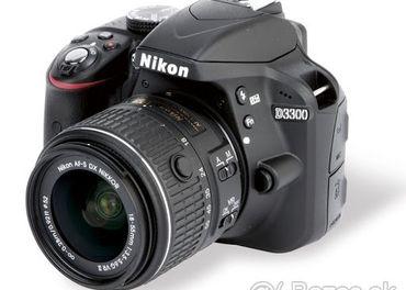 Digitálna zrkadlovka Nikon D3300 + objektív (toči aj video)