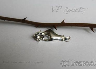 Strieborný prívesok 925/1000 so Swarovski crystals