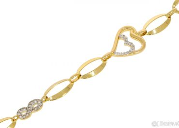NOVÝ Krásny zlatý náramok - Korai