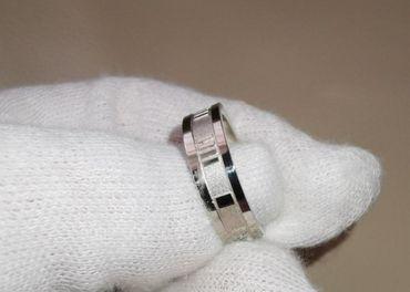 Strieborný prsteň Tiffany