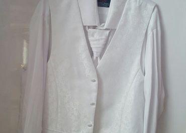 Svadobná košeľa, bolerko a kravata