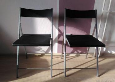 Predám 2 ks stolička skladacia