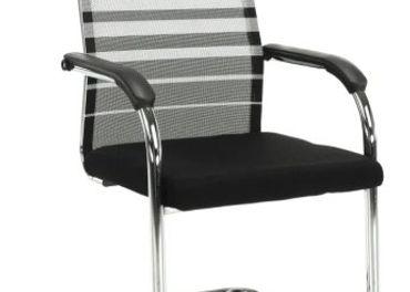 Zasadacie stoličky, farba sivá/čierna, 2ks