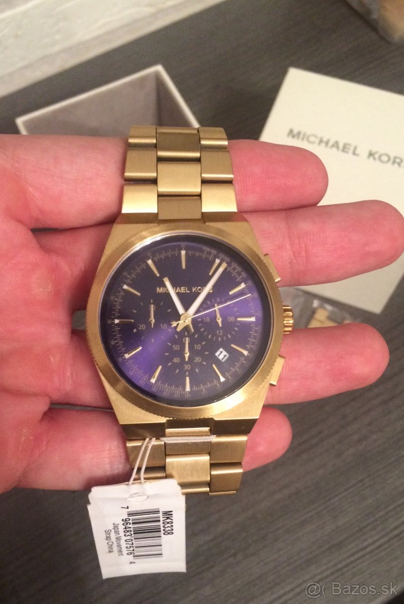Michael Kors Channing Gold/Navy - MK8338