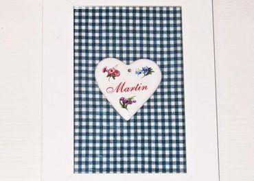Rámik srdiečko pre Martina - 18,7 cm x 13,7 cm