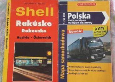 Cestovná mapa Rakúska a Poľska+druhá zdarma