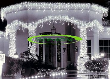 Vianočné osvetlenie HUSTÉ STRAPCE +3 m prívod