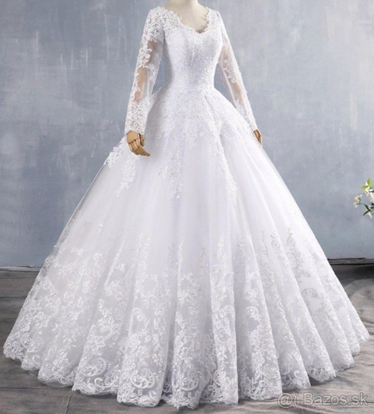 Luxusné svadobné šaty,velkost 40.