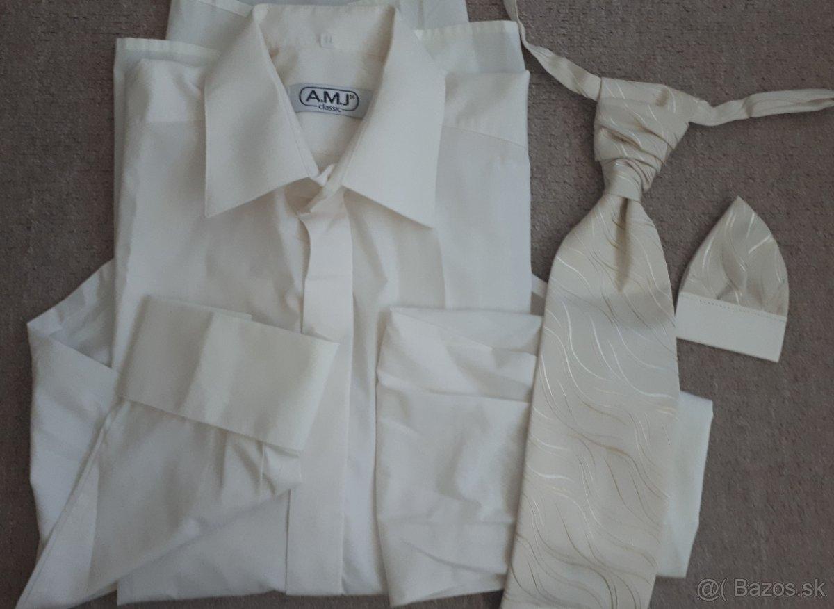Veľ. 41 - svadobná košeľa a kravata