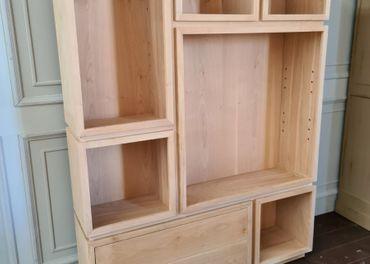 Predám knižnicu z masívneho čerešňového dreva