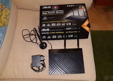 Asus Router RT-N18U + externa WiFi antena