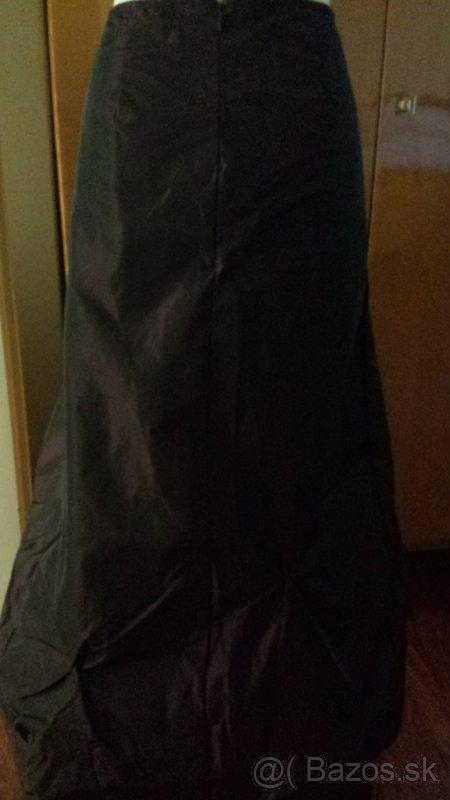Dlhá taftová sukňa  L