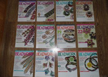 Časopis Beadwork, 12 výtlačkov (výborný stav, s poštovným)