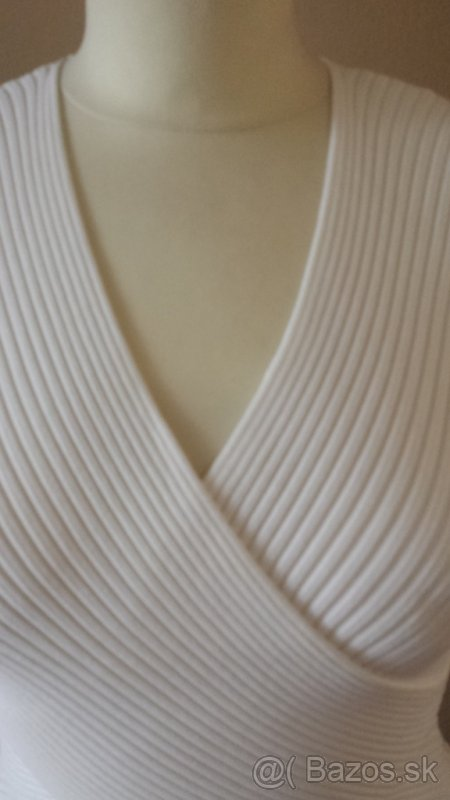 Biele elastické tričko M