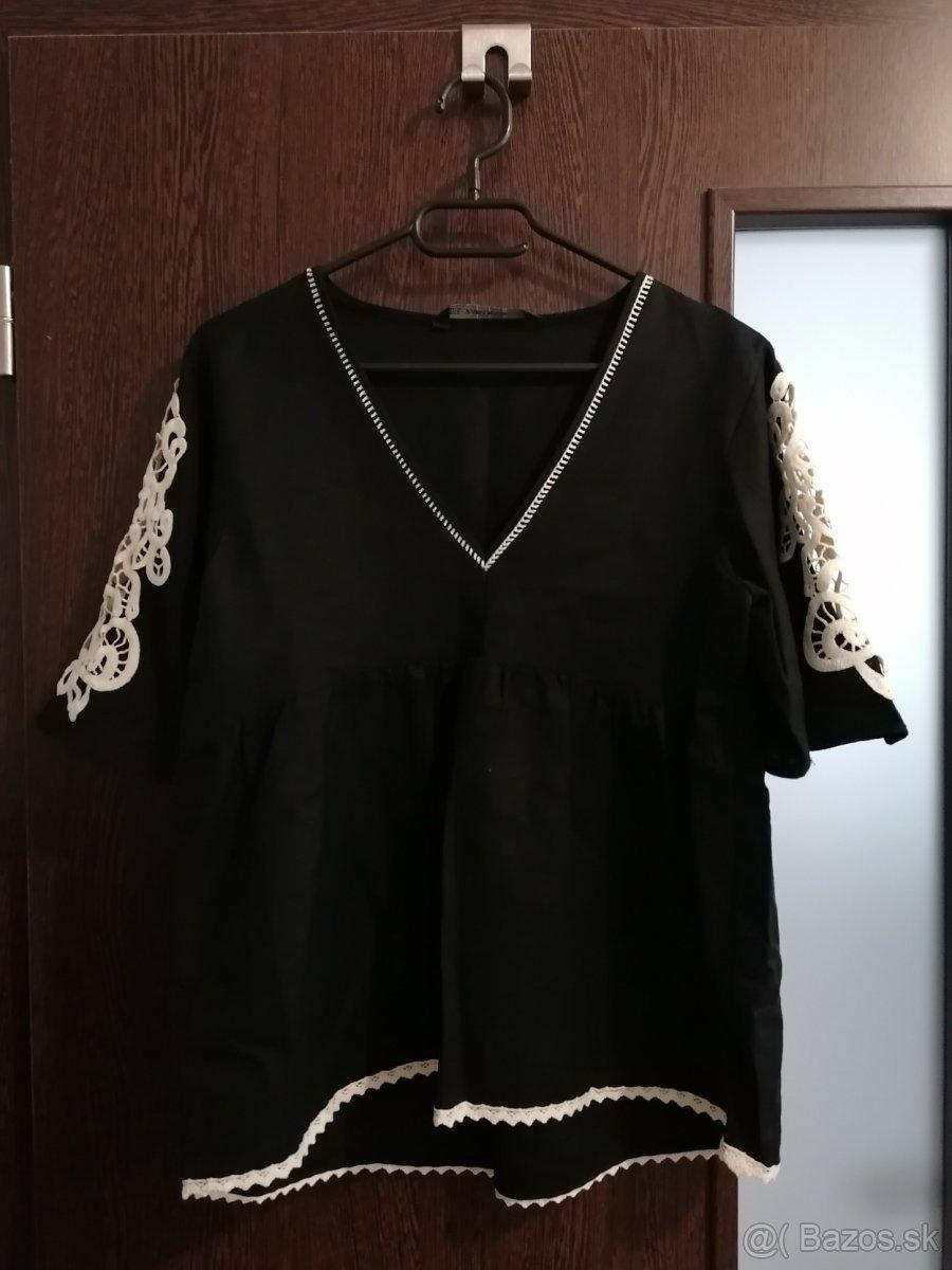 Zara krásny madeirový top, veľ.M
