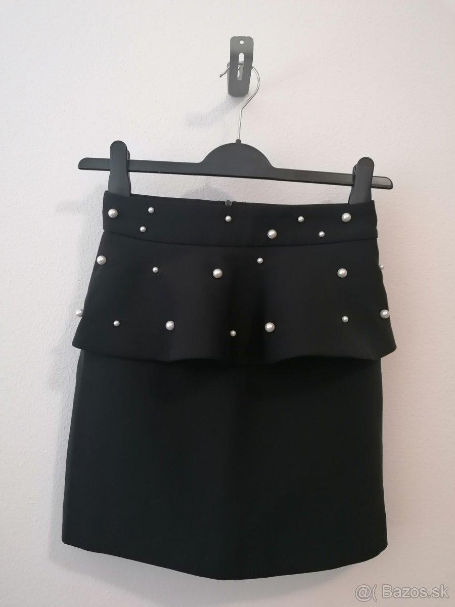 Zara nádherná sukňa s perličkami,veľ.XS