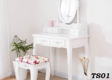 toaletný kozmetický stolík + taburetka (8modelov)