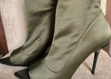 Nové štýlové kotníkové čižmy s otvorenou špičkou