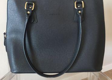 Kožená čierna kabelka Lazzarini - HUMANIC