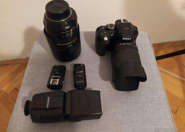 Nikon D5300 + dva objektivy + blesk