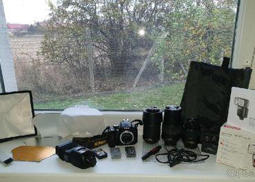 Nikon D5000 + 3 Objektívy + Blesk Metz E-TTL + Prísl.