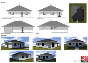 Tehlová novostavba, 4 izb bungalov 116m2