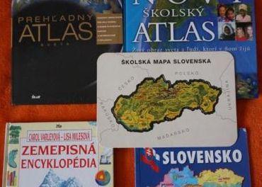 2xATLAS sveta Zemepisná encyklopédia mapaSLOVENSKO