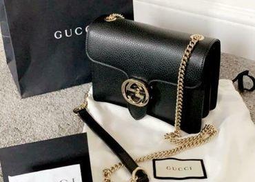 Original Gucci SMALL čierna kabelka- TOP cena