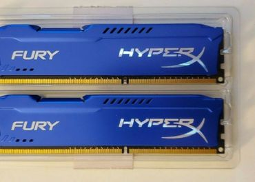 HyperX 8 GB DDR3 1600 MHz CL10 Fury Blue Series