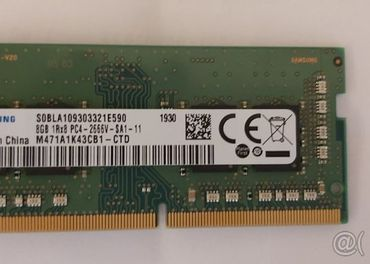 Samsung 8gb ddr4-so dimm notebook 2666mhz