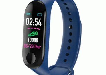 Fitness smart náramok, modrý, bluetooth