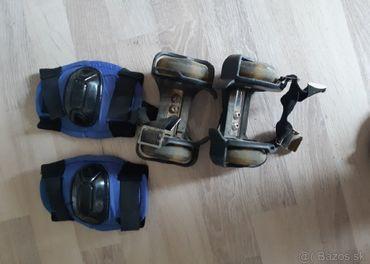 Kolieska na botasky+ chrániče na kolená