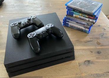 PS4 Pro 1 TB + 2x dualshock + 7 Hier