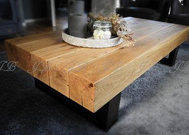 Konferenčný dubový stolík