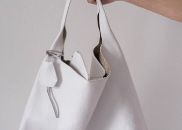 Talianska kožená kabelka - nová