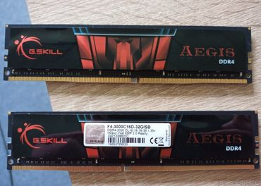 G.SKILL 32GB KIT DDR4 3000 MHz Gaming series Aegis
