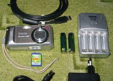 Canon PowerShot A460 + karta + batérie + nabíjačka