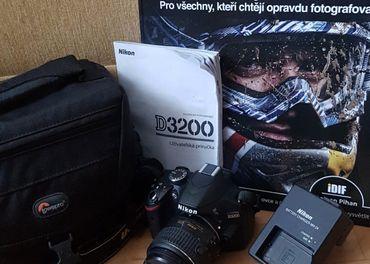 Zrkadlovka Nikon D3200 + Vybavenie pre budúceho fotografa