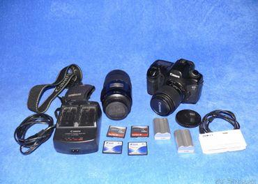 Zrkadlovka Canon EOS 5D + 2x objektiv a prislusenstvo