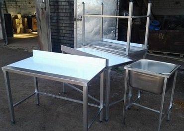 Výroba gastro zariadení a nábytku, regál, stôl, drez, polica