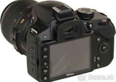 Nikon D3200 + objektiv 18 - 105 AF s VR (stabilizacia)