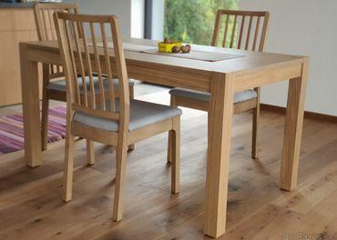 Stol dubova dyha - novy, iba zlozeny ( Daglysa IKEA)